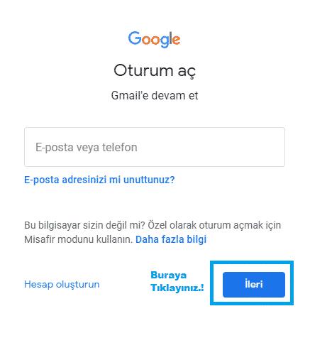 gmail gelen kutusu açma