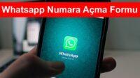 whatsapp numara acma formu