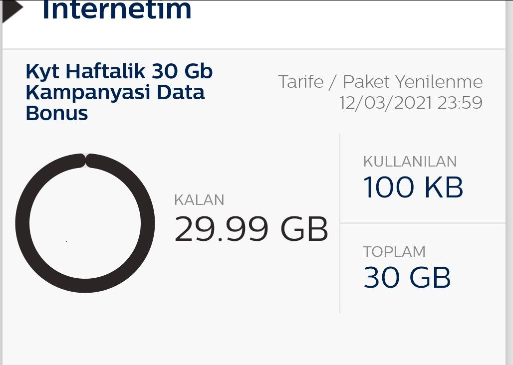 30gb turk telekom bedava internet