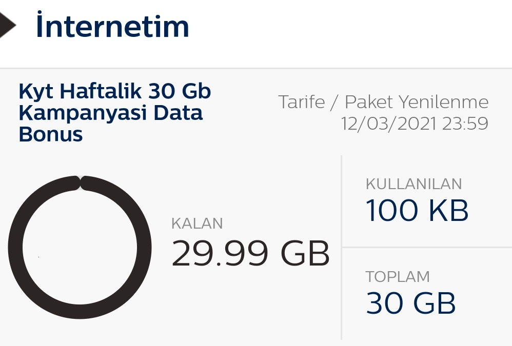 bimcell 30gb mobil internet
