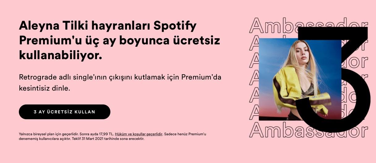 bedava spotify premium