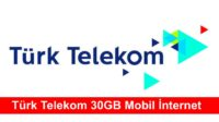 turk telekom 30gb mobil internet bedava