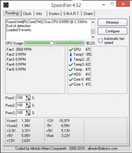 fan hızı ayarlama speedfan